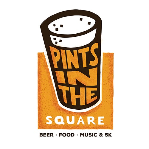 Pints in the Square Logo Design